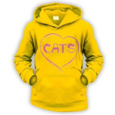 Love Cats Enfants Capuche -x9 Couleurs- Cadeau Animal Chat Chaton Amant Owner