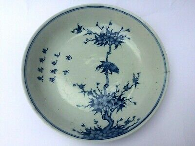 A UNIQUE KANGXI 18 th CENTURY CHINESE BLUE AND WHITE PLATE MARKED TO BASE