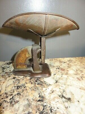 Antique Vintage The Gem Postal Scale With Original Tin Tray Nice