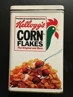Original 1984 Kellogg's Corn Flakes Cereal Tin