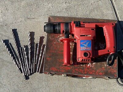 "Older Milwaukee 5362-1 Heavy Duty 1"" Hawk Rotary Hammer Drill & 12 Bits"