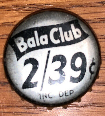 Bala Club Used Cork Soda Bottle Cap 2/39¢ Crown Philadelphia, PA