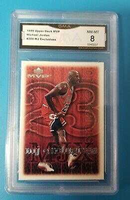 1999 MICHAEL JORDAN MVP #200 MJ EXCLUSIVES GRADED GMA 8 NM-MT comp to psa bgs