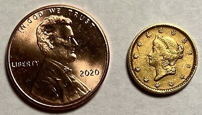 1851 Type 1 Gold Dollar, Extra Fine Details — No Reserve!!