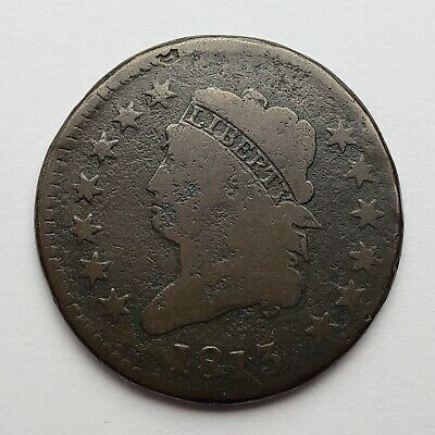 1813 Classic Head Large Cent Good