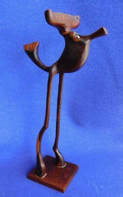 Scandinavian KNUD ALBERT Mid Century Wood Carving Sculpture Fantastic Beast