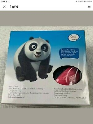 HAPPY BABY 0-3 Years Ear Muffs Noise Reduction HEARING PROTECTION Panda Pink