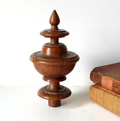 antique turned wood finial Furniture Architectural salvage Replacement 5.08""