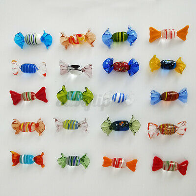 12/24pcs Vintage Murano Glass Sweets Candy Christmas Decorations Kids