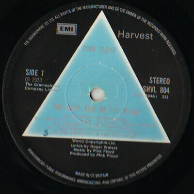 PINK FLOYD Dark side of the moon 1973 SOLID BLUE LABEL A2/B2 UK LP