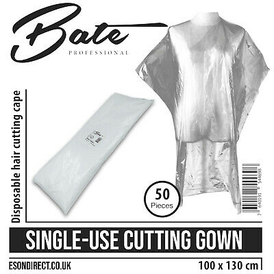 50pcs Disposable Hair Cutting Capes/Gowns 100x130cm Barbers Salons Hairdressers