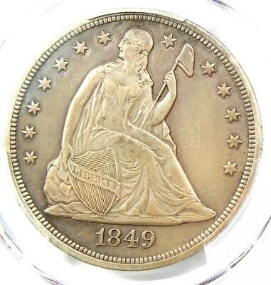 1849 Seated Liberty Silver Dollar $1 - PCGS XF Details - Rare Early Date Coin