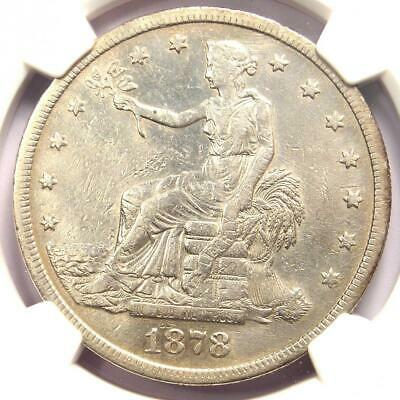1878-S Trade Silver Dollar T$1 - NGC XF Detail (EF) - Rare Certified Coin!