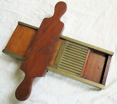 Apothecary/Pharmacy/Druggist Drug Store Wood & Brass Pill Roller Vtg Old Antique