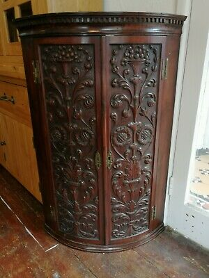 Fabulous Quality Antique Carved Corner Cabinet