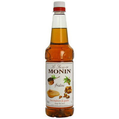 Monin Praline Syrup 1ltr - Set of 4 - Syrup for flavouring Coffees, Cream & Milk