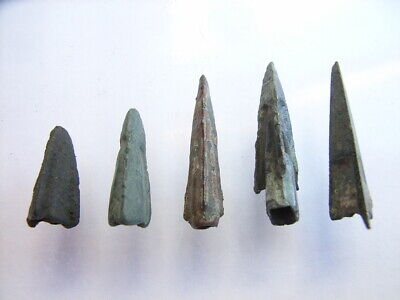 5 Ancient Roman Legionary Arrowheads, Bronze, Romans VERY RARE!  TOP !!