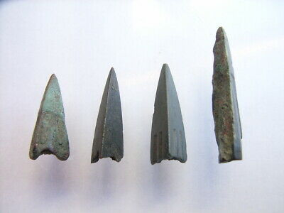 4 Ancient Roman Legionary Arrowheads, Bronze, Romans VERY RARE!  TOP !!