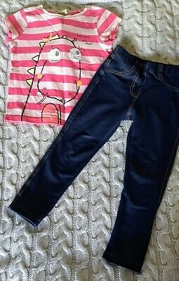 NEXT Girls T-Shirt and Jeggings Outfit, Size 18 months, 2-3 Years