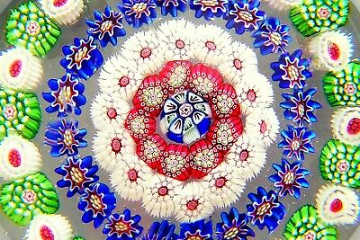+BACCARAT CONCENTRIC MILLEFIORI 1850+  Paperweight Briefbeschwerer Sulfure ANTIK
