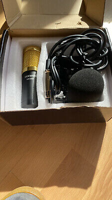 Neewer Condenser Microphone Set NW-800 Studio Broadcast Recording Gold and Black