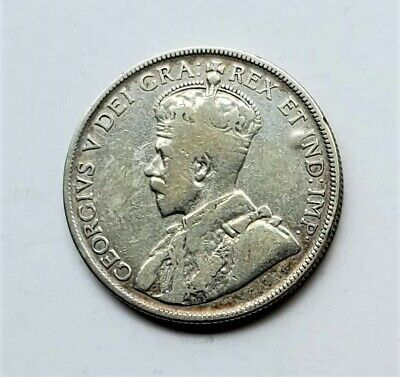 Canada 1932 50 Fifty Cents George V .800 Silver Coin KM 25a