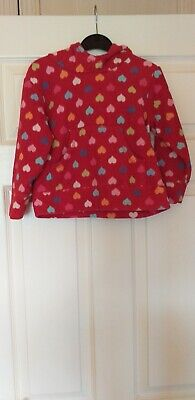 Girls Next Red Heart Pattern Fleece Hooded Top Age 3/4 Years