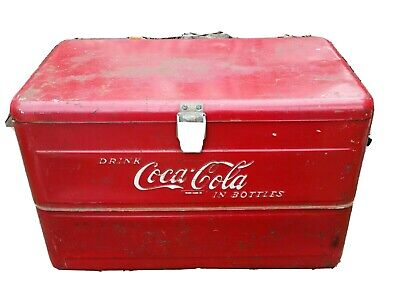 "Cooler Original ""DRINK COCA-COLA IN BOTTLES"" Rare 1940's"