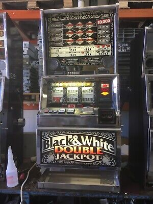 Bally 6000 Black and White Double Jackpot 5 coin 5 line SLOT MACHINE