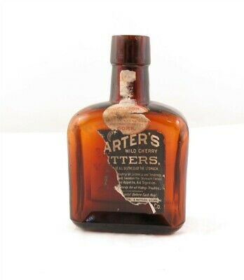 Dayton Virginia Dr Harters Wild Cherry Bitters Brown Medicine Bottle 4 1/2""