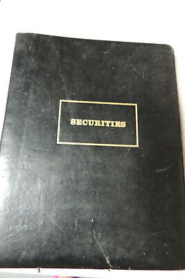 LEATHER  SECURITIES ANTIQUE ,STOCK TRADING, BOND ,MUTUAL FOUNDS Account Record