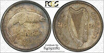 1934 Ireland Better Date Silver Florin (Two Shilling) PCGS Graded MS62 KM#7