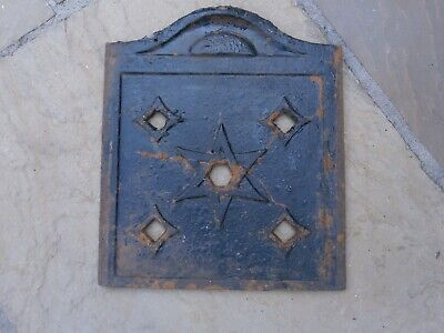 Vintage Victorian  Star Of David Cast Iron Metal Coal Chute Shute Bunker Cover
