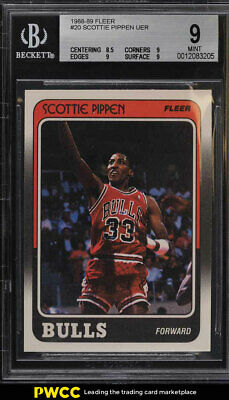1988 Fleer Basketball Scottie Pippen ROOKIE RC #20 BGS 9 MINT (PWCC)
