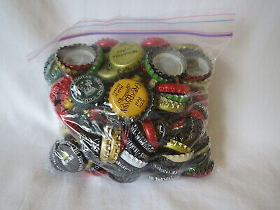 Big Bag Of Premium Craft Beer Bottle Caps Great Mix of Breweries And Colors