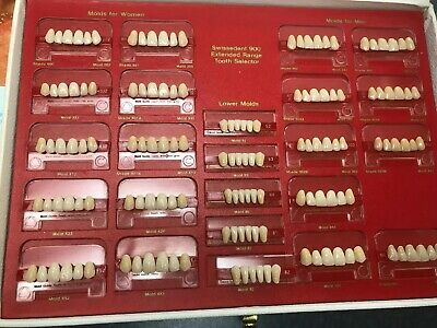 Swissedent Extended Range Denture Teeth, assorted upper,lower,mold and Gender