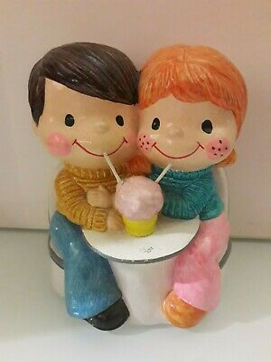 The Couples eating ice-cream Ceramic Coin Bank