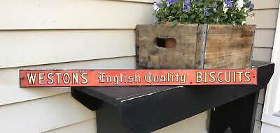 Weston's English Quality Biscuits Sign