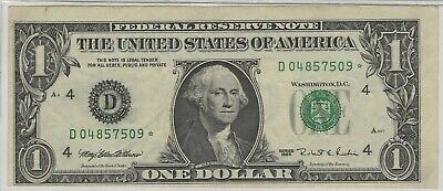 1995 $1 Star Note, Print Shift, Miscut, And Over Inked Black Seal Print, Wow