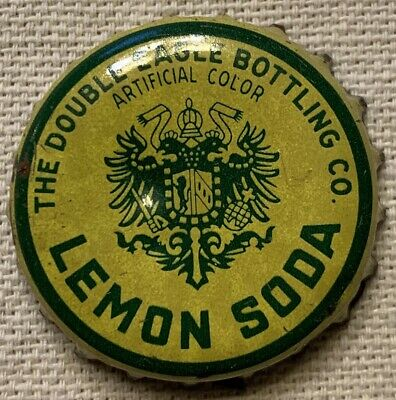 Double Eagle Bottling Co Lemon Soda Used Cork Bottle Cap Very Rare Cleveland OH
