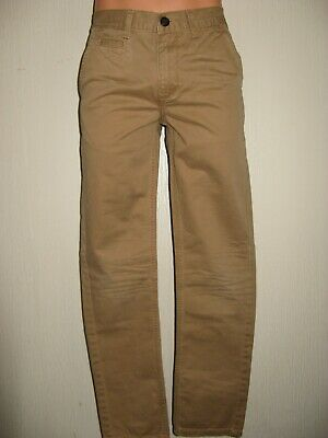 Worn Once Boys Sand Pale Brown Classic Fit Straight Chino Cotton Jeans Age 12-13