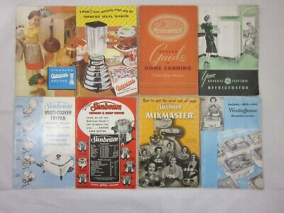 Lot of 8 - Vintage - Kitchen Appliance - Owners Manuals