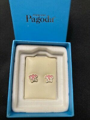 Piercing Pagoda Pink Puppy Kids Earrings 🐶