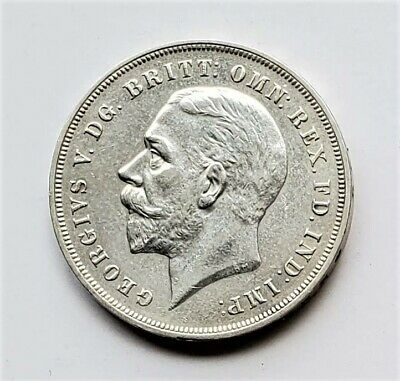 Great Britain 1935 1 One Crown.500 Silver Coin George V Silver Jubilee KM 842