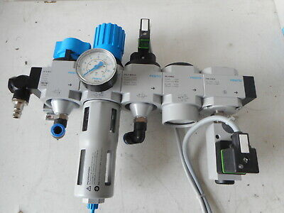FESTO AIR SERVICE UNIT -- FILTER-REG/SOFT START/PRESSURE SWITCH and MORE