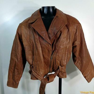 ADVENTURE BOUND Wilsons Leather Bomber Flight Jacket Womens S brown insulated