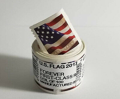 USA Flag 2017 Forever Stamps - Roll of 100 - **FREE SHIPPING**