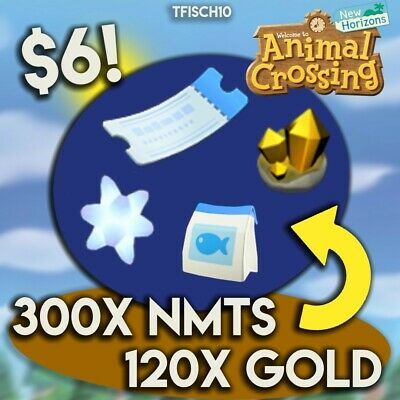 300 Nook Miles Tickets, 120 Gold, Star Frags & Fish Bait BUNDLE! | FAST DELIVERY
