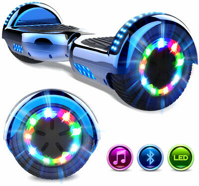 6.5'' Chrome Hoverboard Bluetooth Self Balancing Scooter Flash Wheels UK Plug