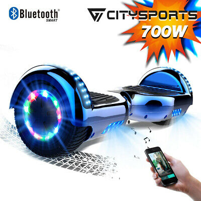 Flash Wheels Hover board 6.5'' Bluetooth Self Balancing Scooter UK Plug Blue